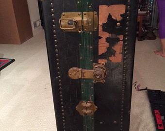 Antique Belber Steamer Trunk