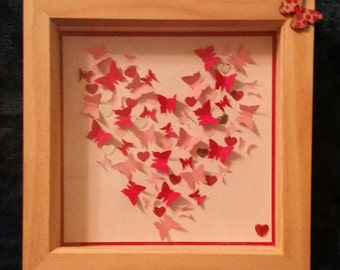 Valentines exclusive! ~ My heart flutters ~ framed and ready to hang