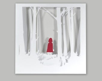 Petit Chaperon Rouge child frame tale of the Brothers Grimm