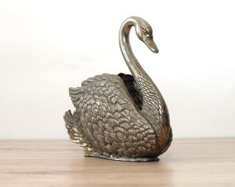 Vintage swan Napkin holder - metal napkin holder - letter holder - Table Centerpiece - Wedding Decor