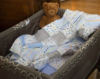 Baby Quilt (Rag)  Custom Handmade (with Bonus)