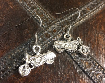 MOTORCYCLE Earrings | Harley Davidson Earrings | Biker Chick Earrings |