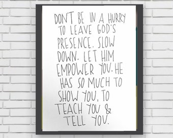 SHOW you TEACH you TELL you - original marker painting quote illustration christian bible god jesus lord gods presence empower you decor