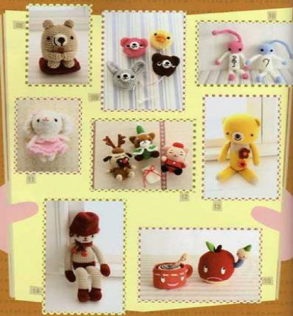 Japanese Amigurumi Chart : Japanese amigurumi book, crochet pattern book, soft toy ...