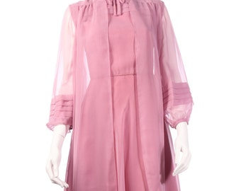 Peggy French couture vintage dress with over jacket size 8/10