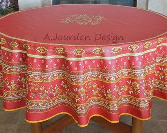 Ordinaire Cheap French Provence Avignon Red Inches Round Cotton Tablecloths French  Country Christmas Party Round Table With French Country Tablecloths