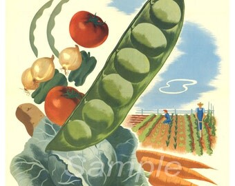 Vintage Your Victory Garden War Poster Print