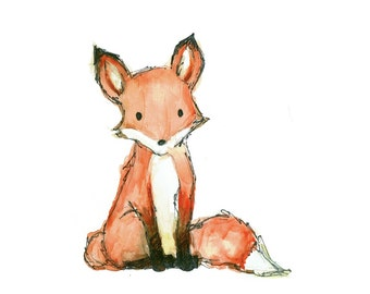 Children's Art - Fox - Woodland Animal