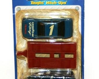 Vintage 1992 TOOTSIETOY 'Toughs Hitch-Ups' Diecast Goodyear Race Car Set