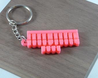 3D Printed - Steno Keys Keychain