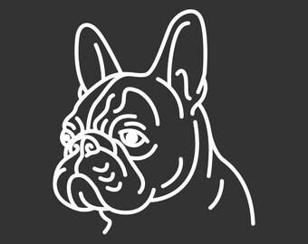 French Bulldog Decal GD128