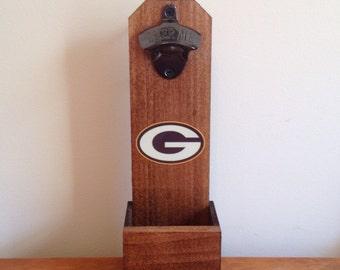 Wall Mounted Bottle Opener - Green Bay Packers