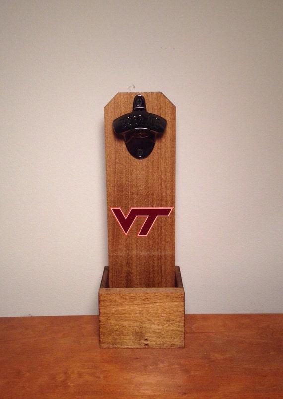 Wall Mounted Bottle Opener Virginia Tech Hokies