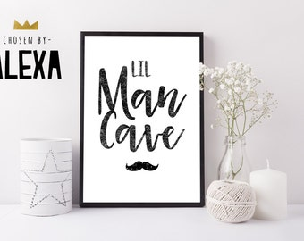 Lil Man Cave  - Handmade Print