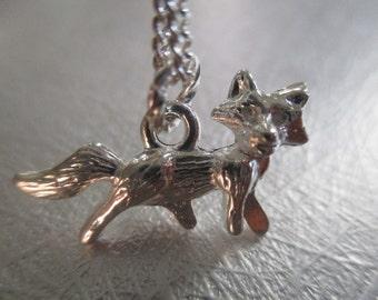 Silver Fox Necklace Fox Jewelry Fall Necklace Autumn Fox Woodland Jewelry