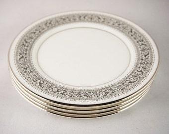 Vintage Dinnerware - Lenox - Mid Century Kitchen - Oxford China - Wedding China - Black and White Dinner Plates - Vintage Dinnerware Sets