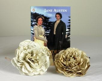 Pride and Prejudice - Jane Austen Single Paper Flower Using A Second Hand Novel