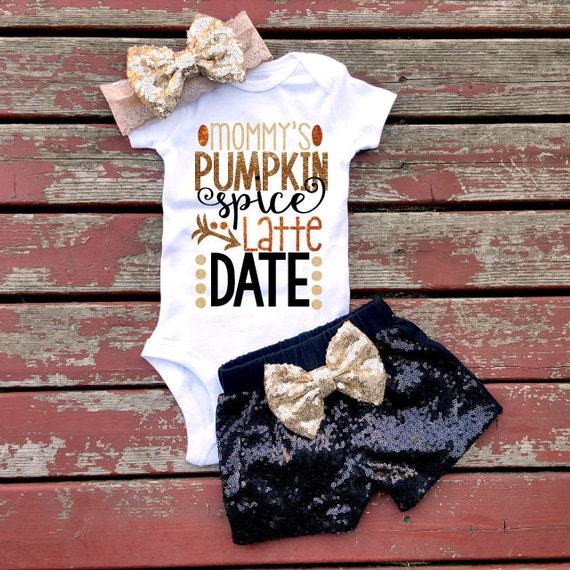 Mommys Pumpkin Spice Latte Date Bodysuit By GLITTERandGLAMshop