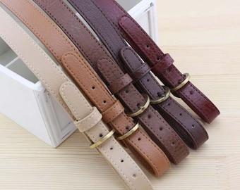 Adjustable Leather Purse Strap, Purse Handles, Bag Strap, Leather Strap, Purse Straps, Leather Straps, 2cm Width, 1 PCS