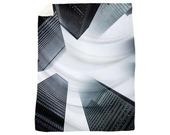 Ultra Soft Urban Architecture Plush Velveteen Throw Blanket - Softer than Fleece! Home Decor