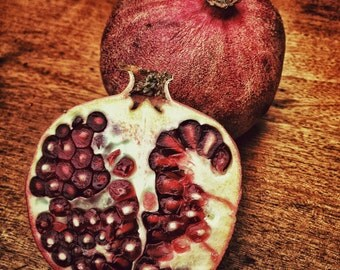 Pomegranate - Food Photo - Pomegranate Photo - Still Life Photo - Kitchen Photo - Square - Digital Photo - Digital Download - Dining Room