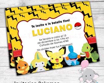 Invitation Pikachu Pokemon