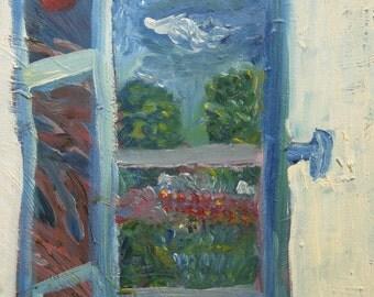 Window on a summer garden 1