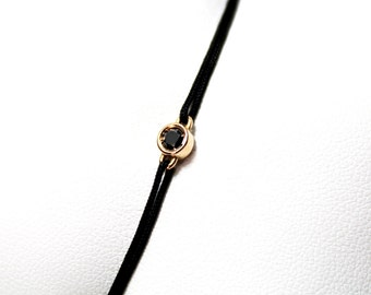 Bracelet diamond black and rose gold