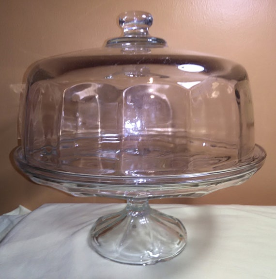 vintage covered footed cake plate cake stand cake pedestal. Black Bedroom Furniture Sets. Home Design Ideas