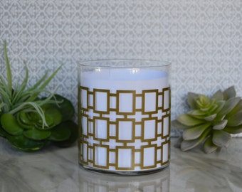 16oz Mid-Century Modern, 100% Soy candle votive---- your choice of fragrance