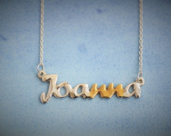 Autual Fingerprint Jewelry-Name Necklace-Personalised Gift-Not laser engraved