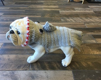 Cute SHARK ATTACK sweater for your pet.