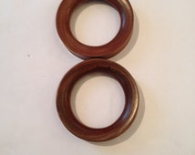 Pair of 60mm sono wood tunnels