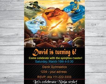 Ninjago Birthday invitation , Ninjago birthday,  Ninjago party, Ninjago, birthday party