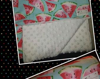 Watermelon fleece blankets