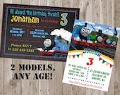 Thomas The Train Invitation, Thomas party, Thomas The Train Birthday, Chalkboard Perfect for boy, Digital Printable DIY, Print Youself