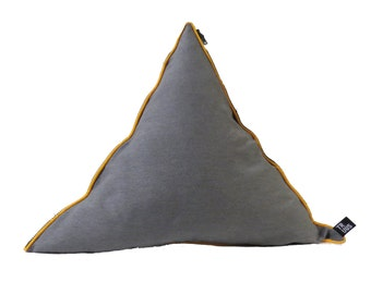 Triangle pillow yellow
