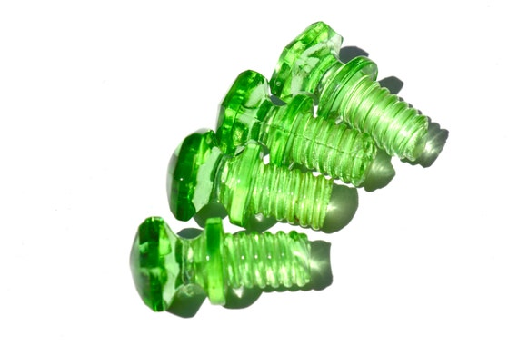 Green Glass Cabinet Knobs And Drawer Pulls: Green Glass Hoosier Knob Antique Cabinet Drawer By