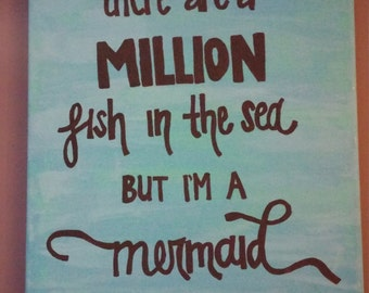 Mermaid Canvas Quote Painting