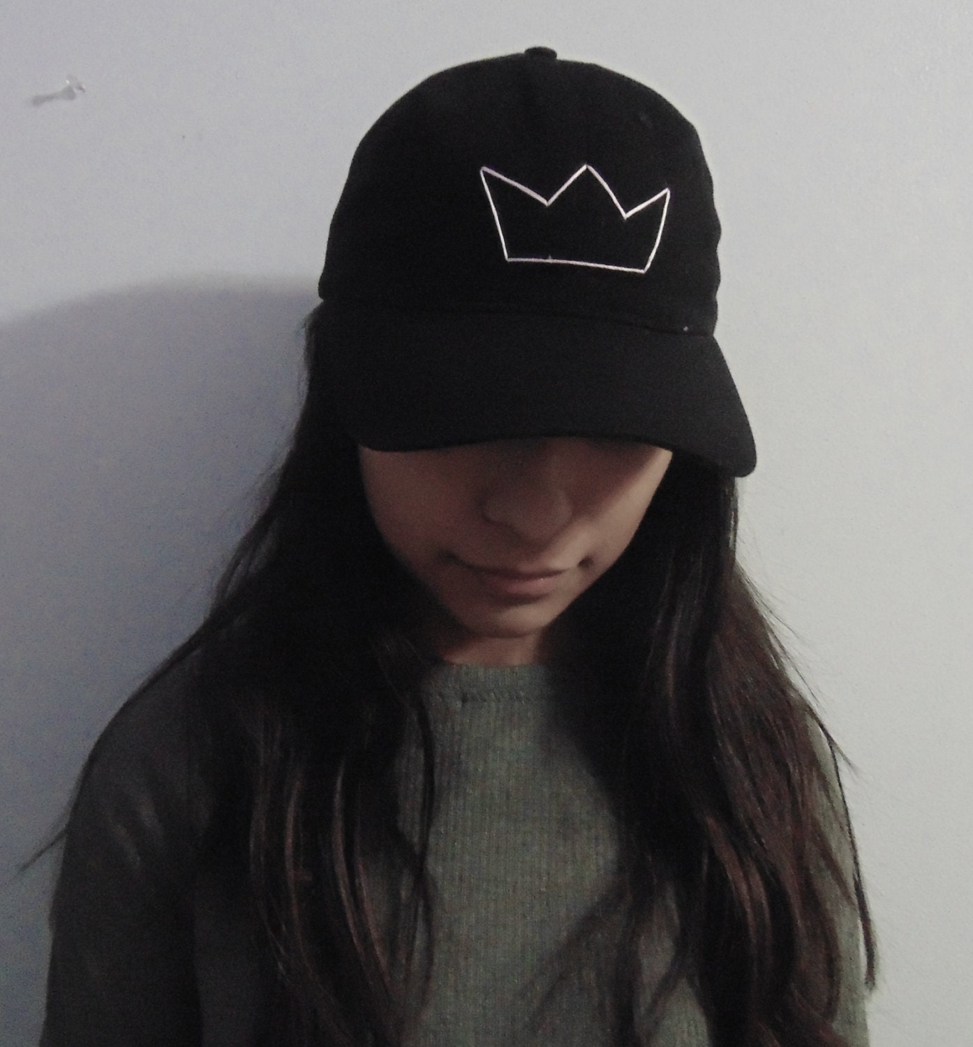 Embroidered crown baseball cap