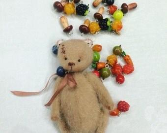 Teddy bear ooak friend blythe