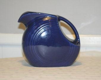 Original Vintage Cobalt Blue Fiestaware water pitcher by Homer Laughlin