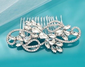 Bridal hair comb, Silver, Wedding hair comb, Wedding hair accessories, Crystal hair comb, Wedding headpiece, Rhinestone, Bridal comb 15215