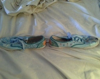 Hand Painted Cinderella shoes