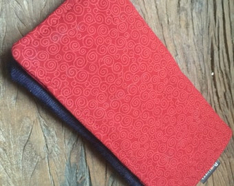 Wallet red and jeans