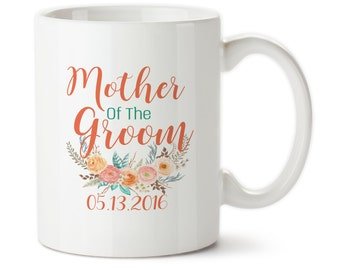 Mother Of The Groom, Mom of groom, Mother of groom, Wedding mug, Custom wedding mug, Family of groom, Wedding party gift, Wedding