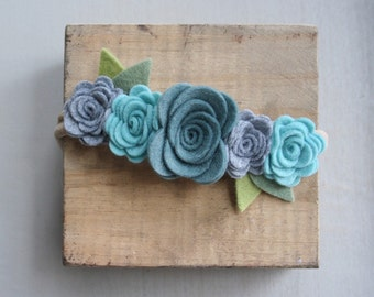 Felt Flower Crown-Baby/Toddler/Child-Blue