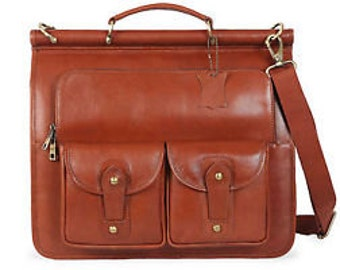 Italian Real Leather Buisness Briefcase Laptop Office Portfolio bag Men Women