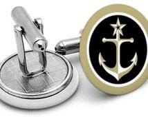 Anchor Cufflinks - Nautical cufflinks - Seaside cufflinks - Gifts for men - Nautical wedding gifts