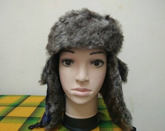Rare SNOW HAT Scottish Plaid | Wing Cap Hat Free size fit all